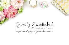 Styled Stock Photo - Floral Desktop