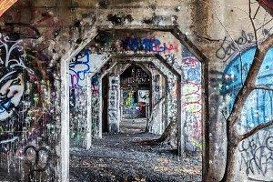 Multiple Arches of Graffiti
