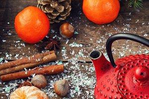 Warming winter tea