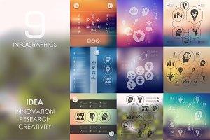 9 idea infographics