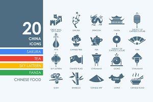 20 China icons