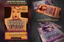 Groove Party Flyer Vintage Style