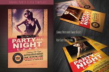 Grunge Party Flyer Template