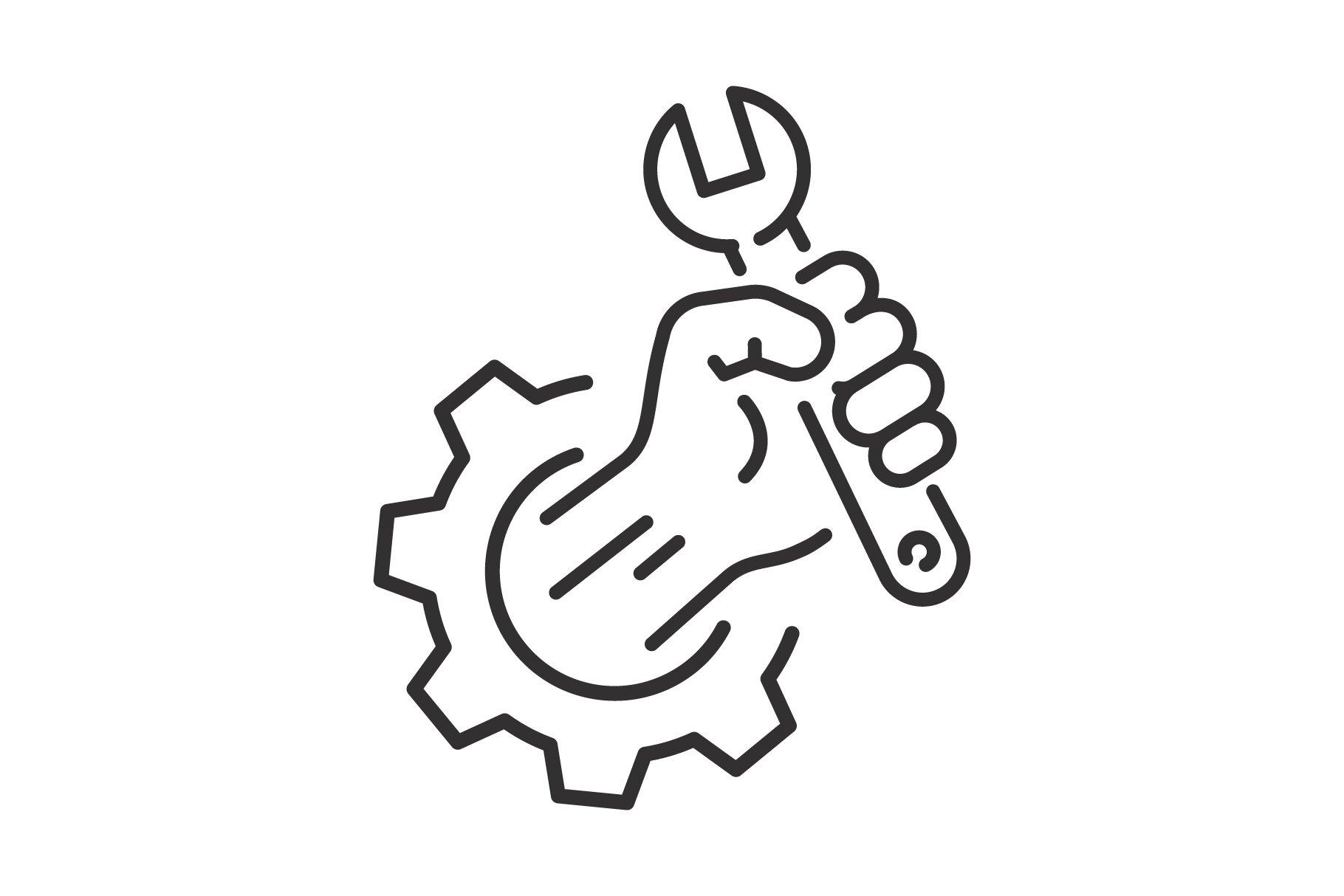 maintenance icon, repair service | Pre-Designed Illustrator Graphics ~  Creative Market