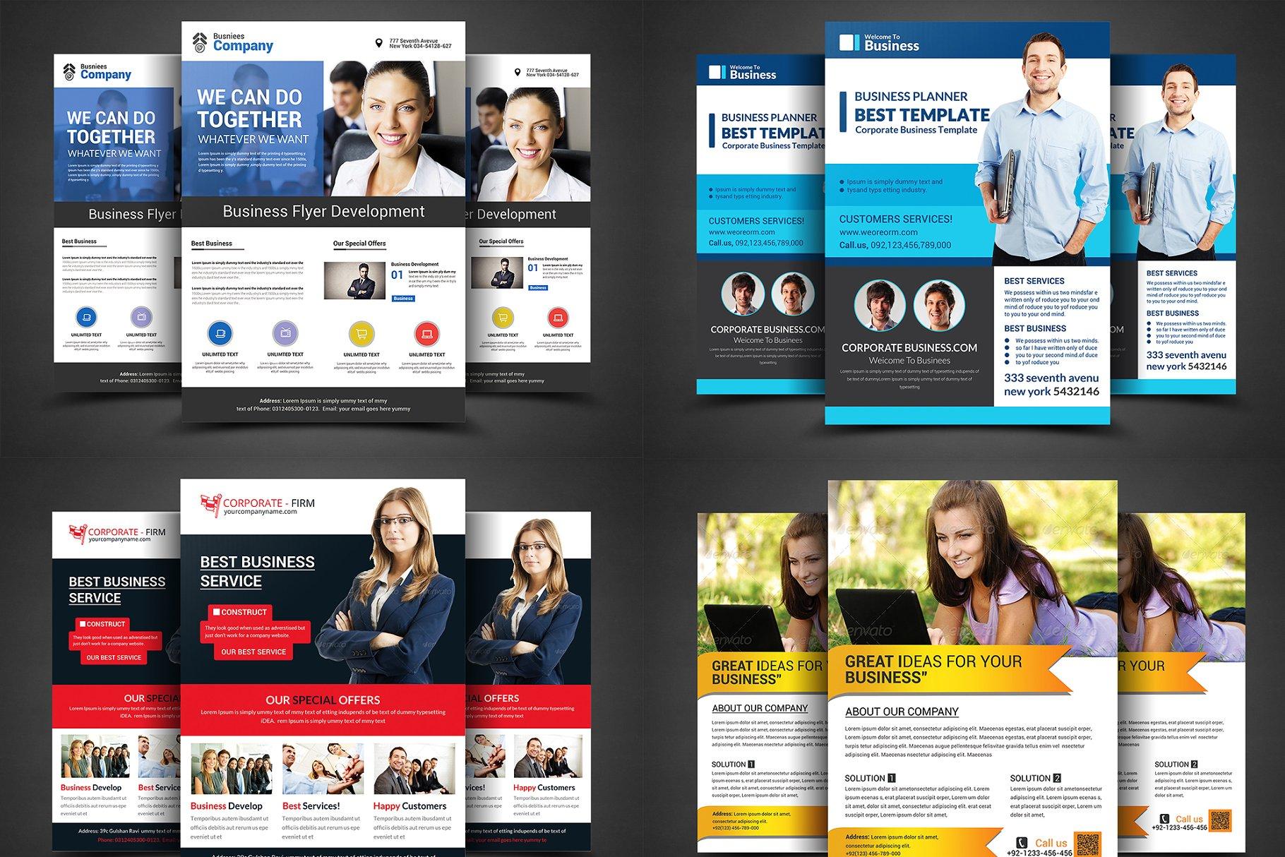 Corporate Business Flyers Bundle - Flyer Templates | Creative Market Pro