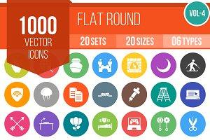 1000 Flat Round Icons (V4)