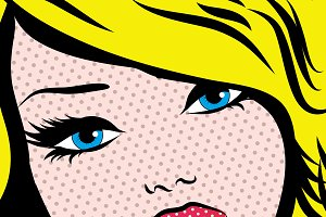 Pop Art Woman PERFECTION! sign.