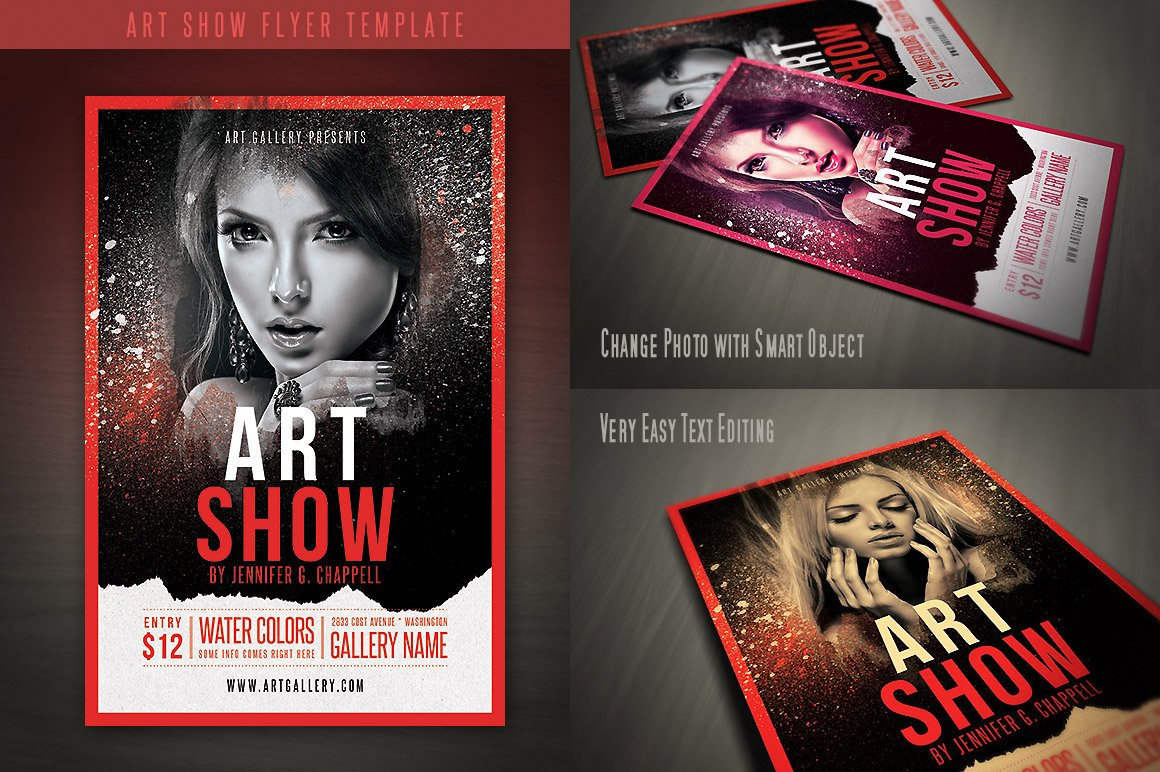 art show flyer template flyer templates creative market