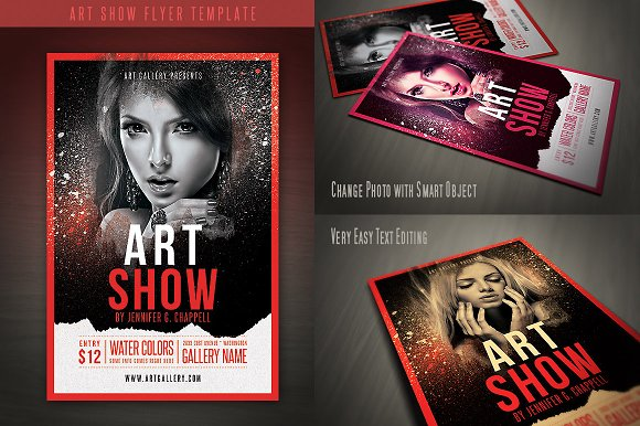 art show flyer template flyer templates creative market