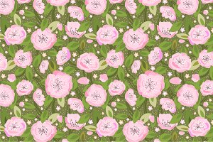 "Seamless pattern ""Cherry blossom"""