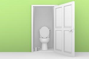 open door toilette