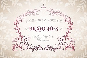 Branches decorative elements