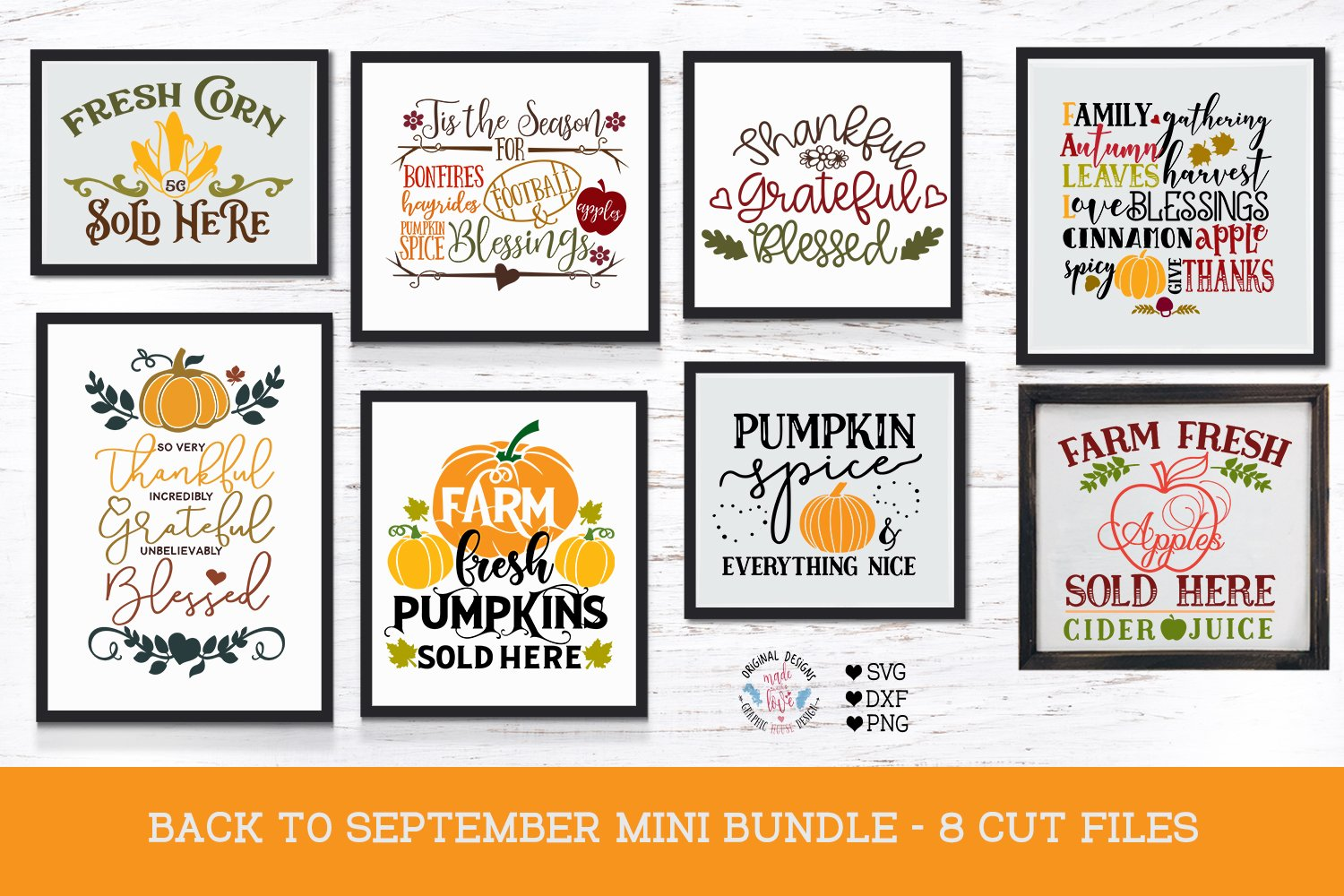 Back To September Fall Cut Files Pre Designed Photoshop Graphics Creative Market
