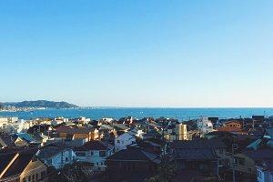 Coast side town in Japan