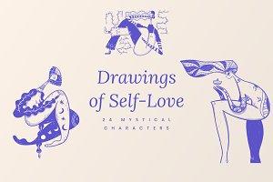 Mystical Drawings of Self-Love Pack