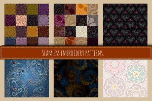Set of embroidery patterns.