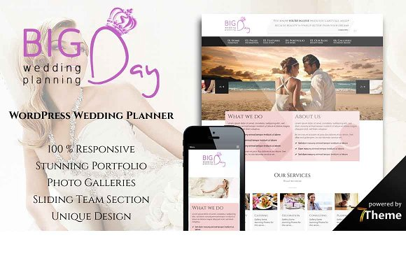 Big Day - WP Wedding Planner Theme