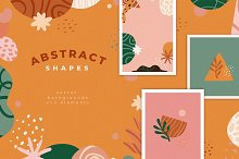 Abstract shapes -vector backgrounds by  in Graphics