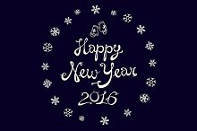Happy New Year 2016. Vector