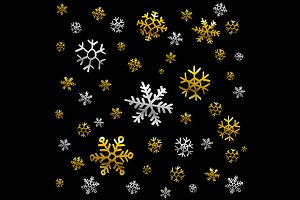 Christmas snowflake patterns vector
