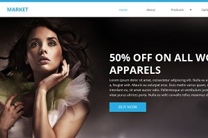Market Ecommerce Muse Template