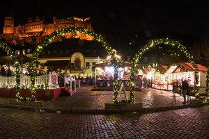 Heidelberg's Xmas Market Panorama