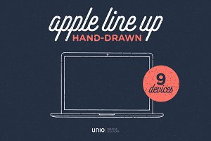 Apple Hand-drawn Line-up v2