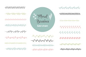 Hand-drawn vector brushes. Borders