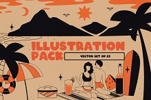Vacation Illustrations Pack by  in Templates