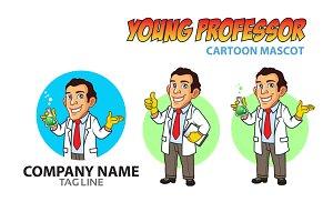 Young Professor Cartoon Mascot