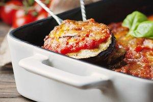 Italian traditional dish parmigiana