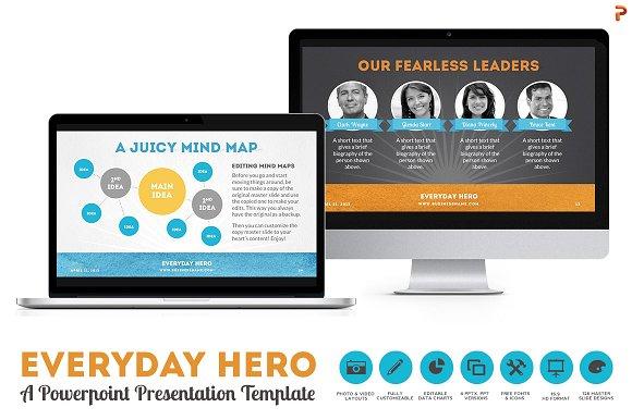 everyday hero powerpoint hd template presentation templates