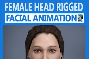 Female Head Rigged