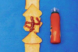 Trash design. Fast food life