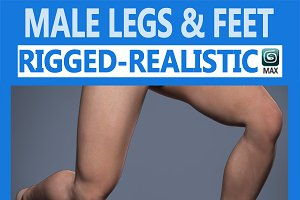 Male Legs Rigged