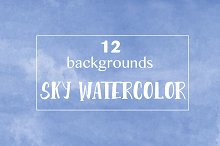 sky watercolor backgrounds