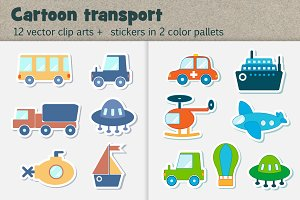 Cartoon Vector Transport Clipart
