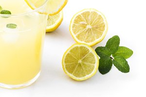 Juice drinks lemonade with mint