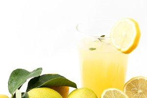 Juice drinks lemonade with mint