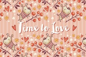 4 Seamless Patterns • Time to Love
