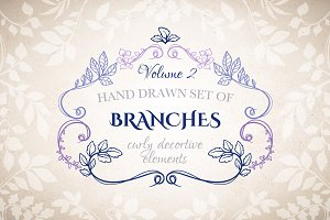 Branches decorative elements, Vol.2