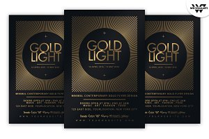 GOLD SUN Minimal Flyer Template