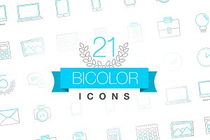 Bicolor thin icons