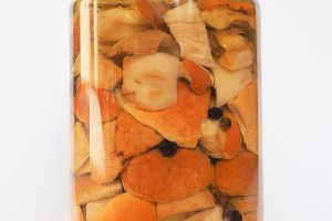 Porcino mushrooms in jar