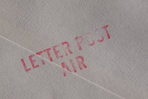 Letter post air stamp