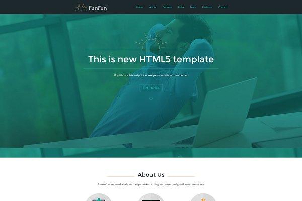 Fun Fun - Responsive HTML5 Template
