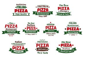 Italian premium pizza banners and la