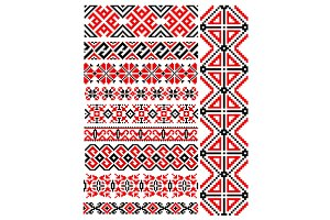 Ethnic vintage patterns and ornament