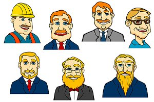 Different cartoon men