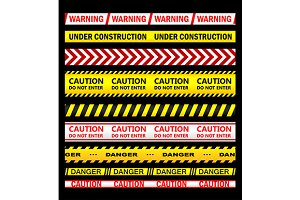 Warning, security and caution ribbon